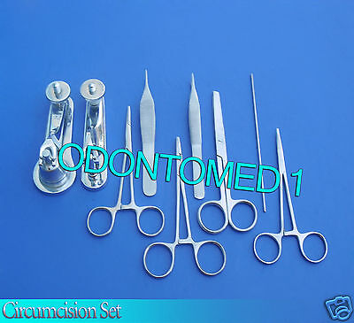 Circumcision Set Cw 2 Gomco Style Clamp 1.3cm2.9cm Ss 6 Ss Inst Ds-838