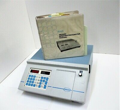 Hach Dr3000 Spectrophotometer 19600-00 With Manual