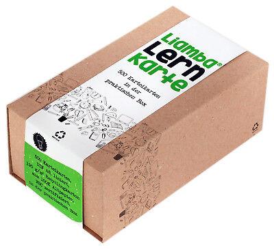 Liamba Lernkarte   500 Karteikarten in der praktischen Lernbox   DIN A8 Format