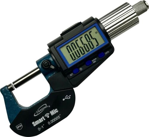"IP54 Micrometer 0-1"" / X-Large Display / Bluetooth Output / iGAGING"