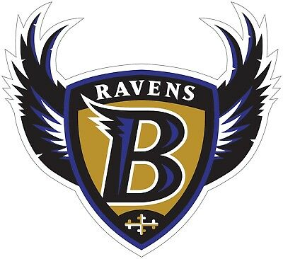 Baltimore Ravens Shield Logo NFL Color Die Cut Vinyl Decal cornhole car wall new
