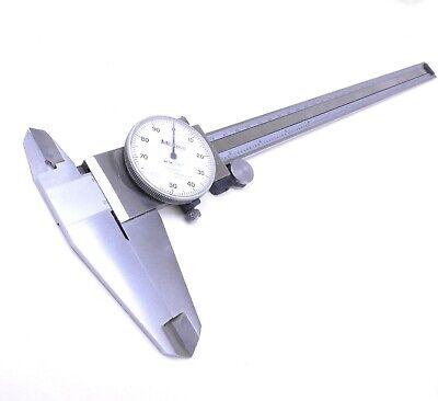 Mitutoyo 505-645-50 Shock Proof Dial Caliper 0-12 Range .001 Graduation