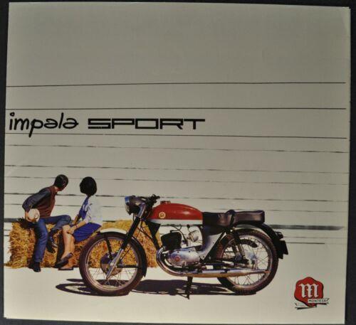 1964 Montesa Impala Sport 175 Motorcycle Folder Spanish Text Excellent Original