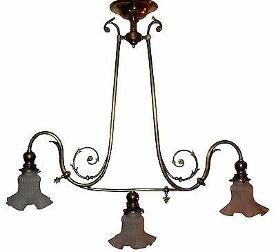 ART NOUVEAU Jugendstil um 1900 Deckenlampe Chandelier