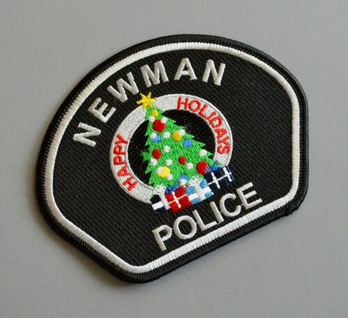 Newman California Police Happy Holidays Patch +++ Stanislaus County CA