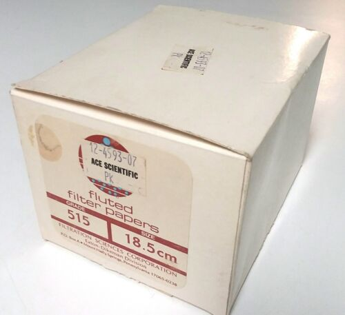 Filtration Sciences 515 Pleated Fluted Filter Paper 18.5 cm Box Pack of 20