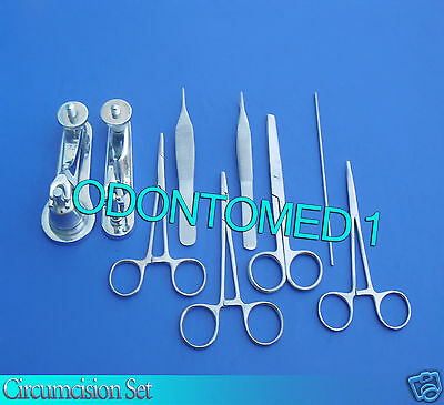 Circumcision Set Cw 2 Gomco Style Clamp 1.1cm3.5cm Ss 6 Ss Inst Ds-831
