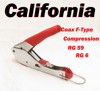 Coaxial Compression Tool RG6 RG59 Satellite Cable RCA F Type Fitting Crimper