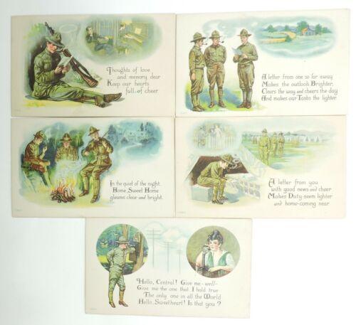 WWI Sweetheart Postcard Lot, Original, Unused