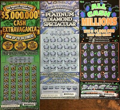 5 000 Nj Lottery Scratch Off Tickets Non Winning New Jersey