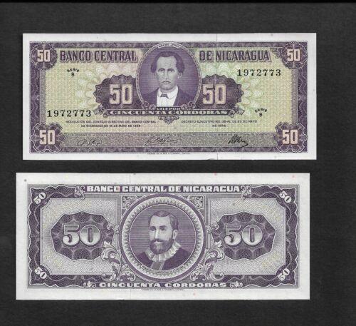 Nicaragua p-119 , UNC, 50 Cordobas, 1968