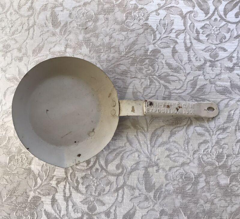 Original 1901 Pan-American Exposition Frying Pan Skillet