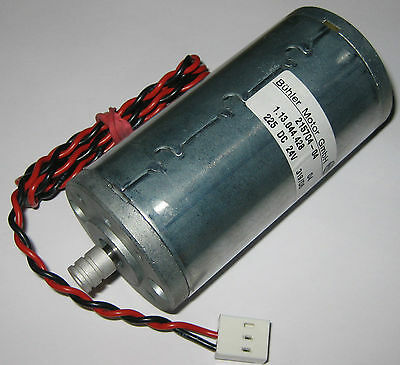 Buhler Permanent Magnet 24 V Dc Large Hobby 5000 Rpm Motor W Pulley - 6mm Shaft