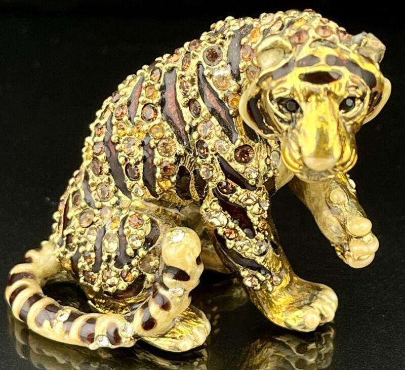 🦋 MINT Mini TIGER Jay Strongwater Figurine