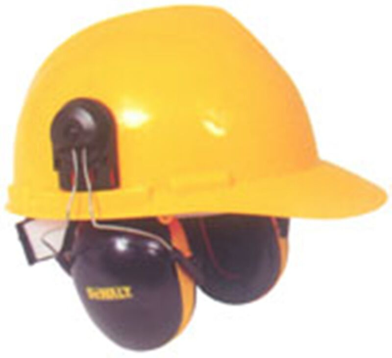 DeWALT Interceptor Cap Mount Safety Ear Muffs (NRR 29) Fits Most Cap Style Hats