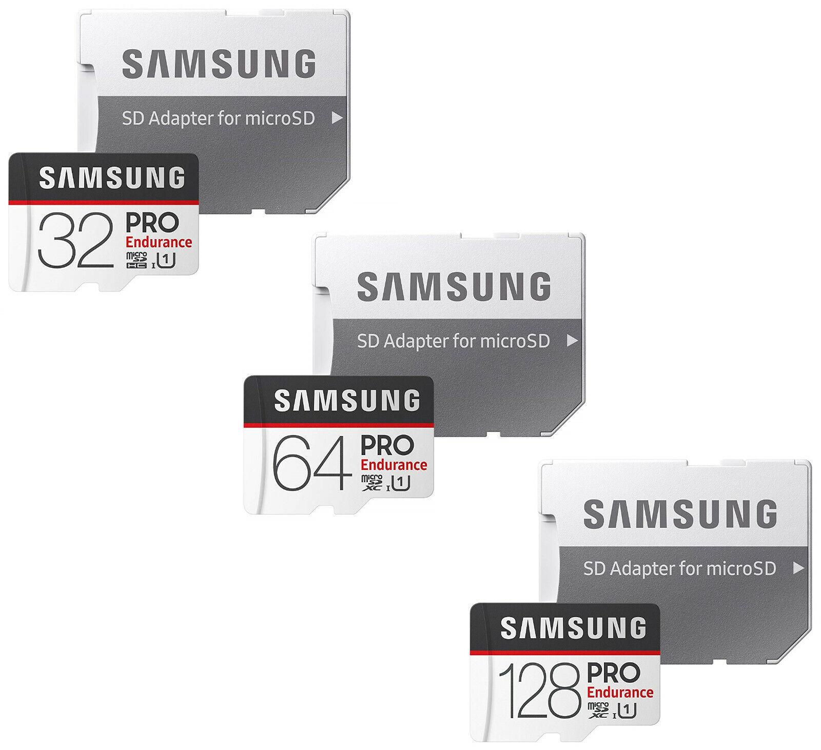 Samsung 32GB 64GB 128GB Pro Endurance Micro SD 100MB/s Micro