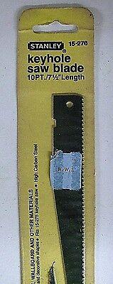 15-276 Stanley Keyhole Saw for Wood Sheetrock Wallboard  Blade 10 Pt   7 1/2