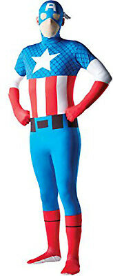OFFICIAL MARVEL'S CAPTAIN AMERICA ADULT HALLOWEEN COSTUME MEN'S SIZE LARGE (Official Marvel Costumes)