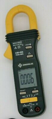Used Greenlee Textron Cm-450 600a Ac True Rms Professional Clamp-on Meter