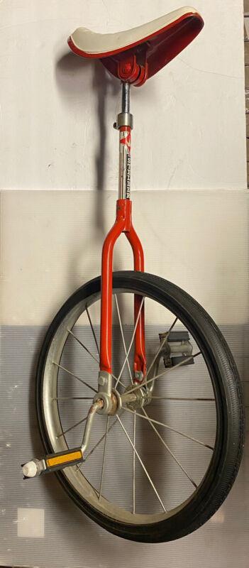Vintage Stelber Red Unicycle w/ Troxel Seat