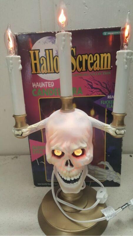 HallowScream Candelabra Halloween Skull Trendmasters  In Box