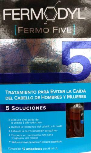 FERMODYL FERMO FIVE TRATAMIENTO PARA CAIDA DE CABELLO - CAJA 6 AMPOLLETAS C/U