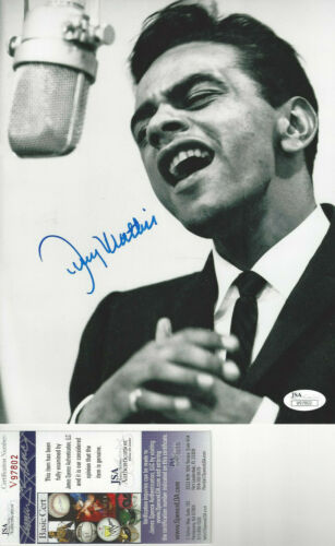 Singer Johnny Mathis  autographed 8x10 singing up close  photo JSA Certified