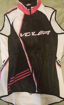 Voler Cycling Jacket Raglan Blk w  Pink lined Jacket Vest Women s Small 2a66deebf