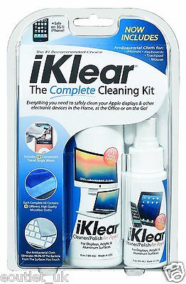(iKlear Complete Screen & Cleaning Kit for iPad, iPhone, MacBook or iMac NEW)