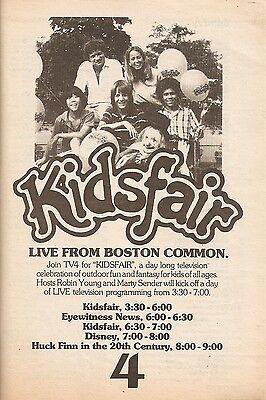 1979 Tv Ad   Kidsfair On Wbz Tv4 In Boston  Robin Young   Marty Sender