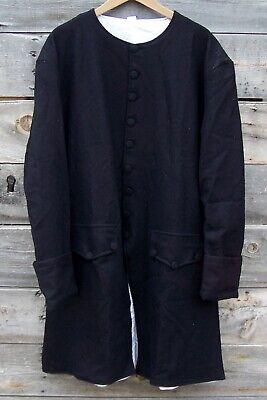 Revolutionary War Civilian Militia Navy Blue Wool Frock Coat Pleated 46