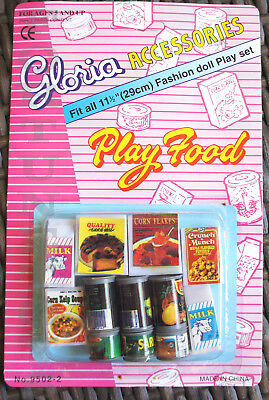 2 GLORIA DOLL HOUSE FURNITURE Fridge Food(95022) Sets FOR BARBIE 5+yrs old