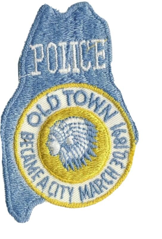 """Old Town ME Maine Police Cutout 4"""" Heavy Patch"""