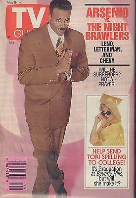Tv Guide Magazine May 8 14 1993 Arsenio Hall Tori Spelling 081617Nonjhe