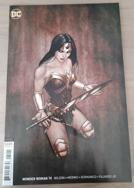 WONDER WOMAN #74 JENNY FRISON VARIANT. BAGGED & BOARDED. FREE SHIPPING. NM.