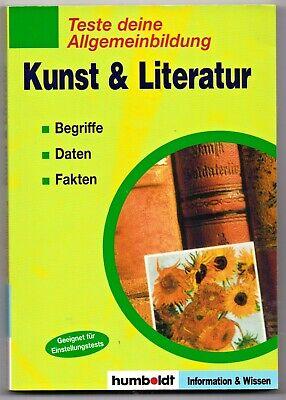 Kunst & Literatur - Teste deine Allgemeinbildung * Taschenbuch (Buch, Bildung)