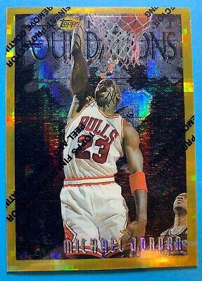1996 MICHAEL JORDAN FINEST ATOMIC REFRACTORS GOLD #291 Rare - PEEL ON