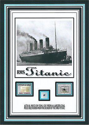 Titanic Coal Relic  Piece W Coa  From R M S Titanic White Star Line Wreckage