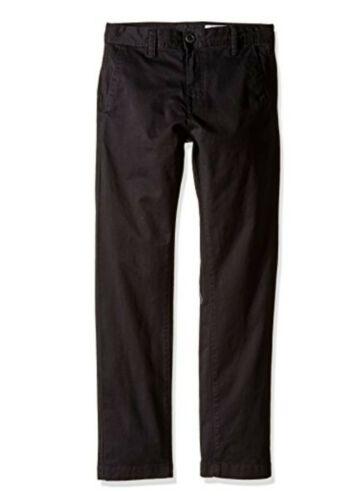 Boy's Volcom Slim Fit Stretch Chinos, Size 29 - Black