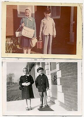 2, 1950's snapshots siblings latest children fashion disney, lunch box baseball