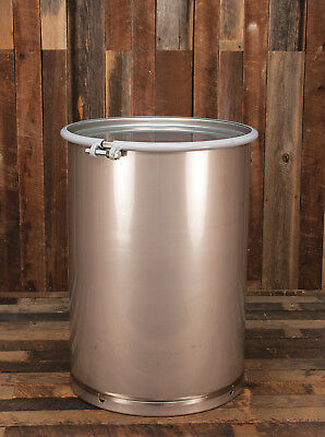 55 Gallon Stainless Steel Drum Barrel Sanitary Open Top