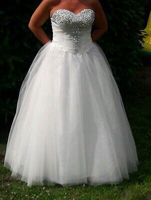 Brautkleid Hochzeitskleid Prinzessin Kleid zum Schnüren Gr 40-42