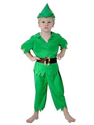 Kids Novelty Peter Pan Children Costume Toddler Fancy Dress Party Wear Outfit