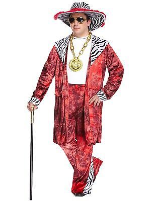 Daddy Pimp Costume Adults Fancy Dress Party Wear Outfit (Big Daddy Outfit)