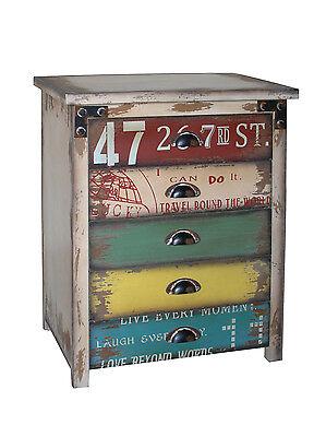 Antique Inspired Design Multicolor Wood Drawer Cabinet (Antique Inspired Wood)