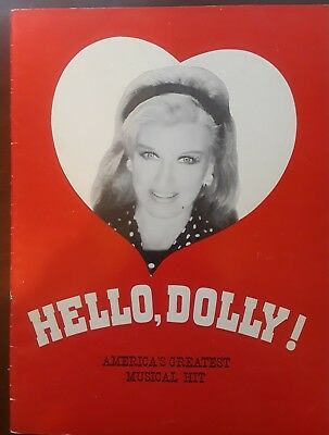 "THE HIT ""HELLO DOLLY"" Souvernir Program GINGER ROGERS / DAVID BURNS  NYC 1966"