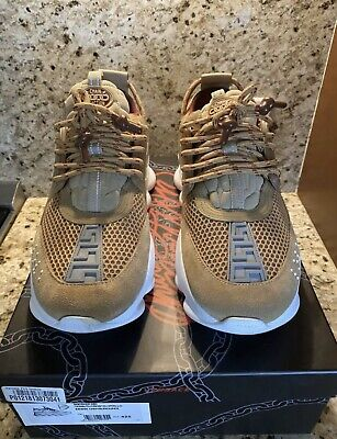 Versace Chain Reaction Tan Sneakers Size 42.5 (9.5 US)