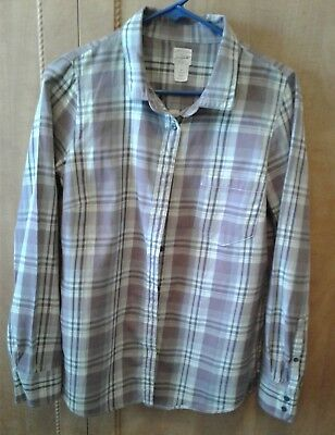 J. Crew The Perfect Shirt Button Down Purple Plaid Women's M EUC 100% Cotton for sale  Green Valley