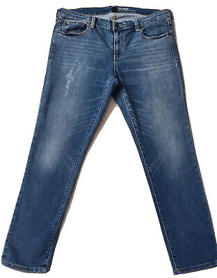 GAP Girlfriend Ladies Blue Straight Leg Stretch Jeans Size 16 Women's