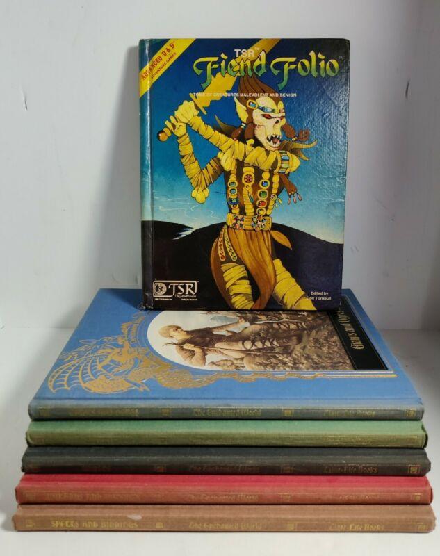The Ancient World D&D Vintage Time Life Set of 5 + TSR The Fiend folio 1981+ VTG